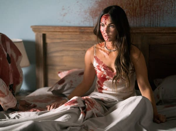 'Till Death Photos Reveals a Bloodied Megan Fox Fighting for Her Life