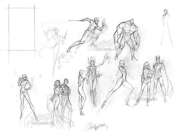 The $55,000 Artwork of J Scott Campbell, on Display in New York City