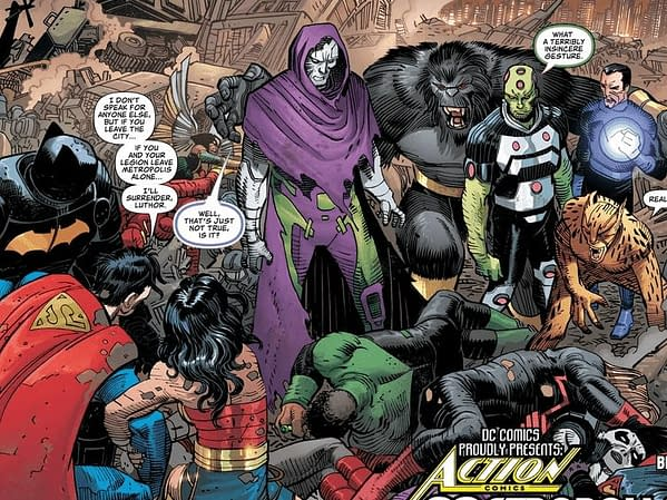It's Leviathan Vs Invisible Mafia in Action Comics #1017 - and Year of The Villain Wins?