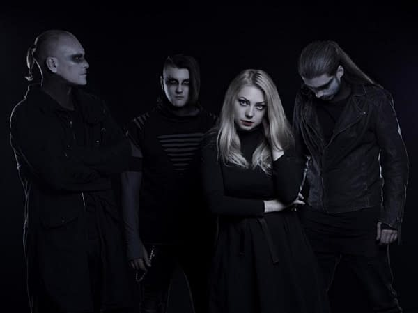 """A glamour shot of the Russian alt/metal goth band The End Of Melancholy. They recently covered """"Immigrant Song"""" by the world-famous rock band Led Zeppelin."""