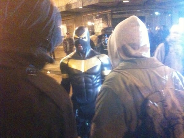 Phoenix Jones Attends Seattle Police Protest March