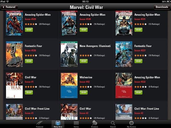 Massive Civil War ComiXology Sale On Friday