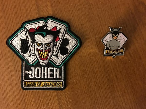 Batman The Animated Series Funko Legion of Collectors Box Patch and Pin