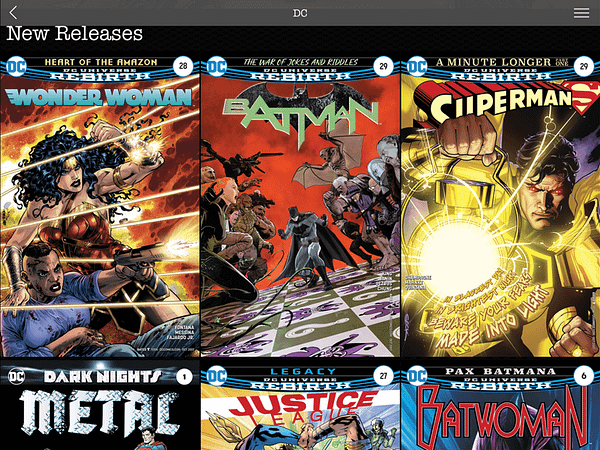DC Moves Their Library Of Digital Comics To Madefire App, Including Today's New Titles