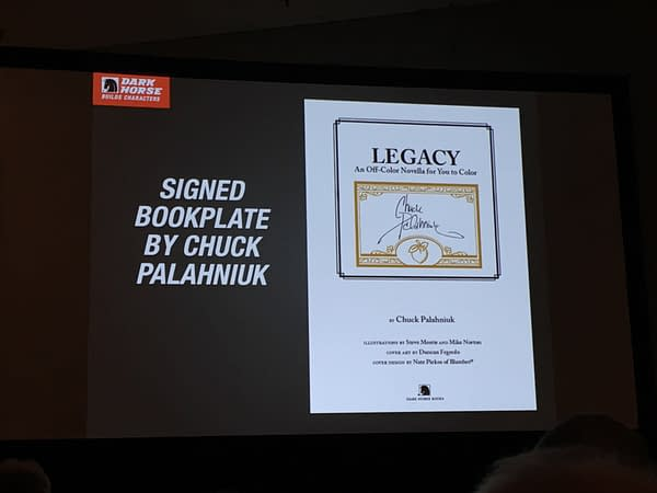 Dark Horse Give Retailers Another Chance To Order Chuck Palahniuk's Legacy With Signed Book Plates