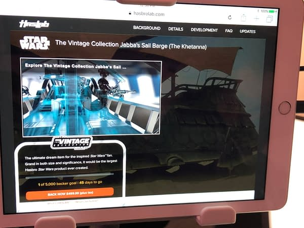 Hasbro Launches Crowd-Funding Platform Haslab, Starting With Jabba's Sail Barge