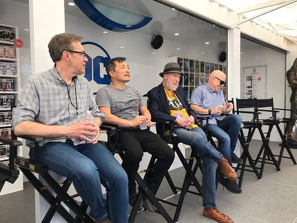 Having DC Comics Breakfast with Brian Michael Bendis, Jim Lee, Frank Miller, and Dan Jurgens at #SXSW