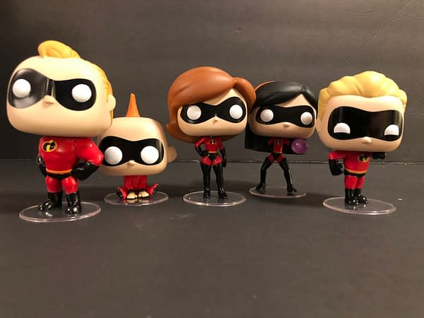 Incredibles Funko Pops Group Shot