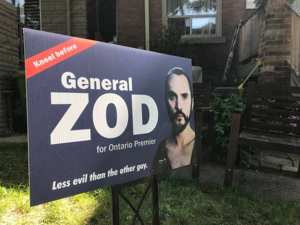 General Zod Wants You to Kneel… and Vote if You're in Ontario, Canada