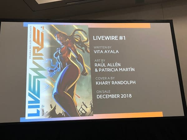Valiant Innovates Glass Comic Covers, Makes Livewire an Ongoing Book