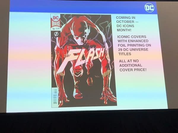 Full List of DC Icons Foil Covers for October at No Extra Price