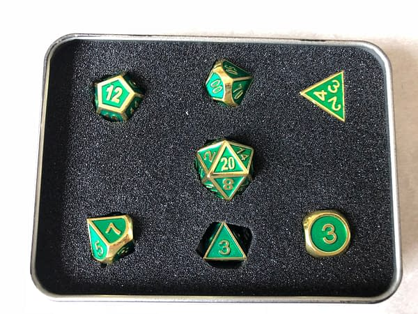 Review: Die Hard Dice — Gold Emerald Gemstone Collection