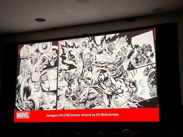 Interior Art From Avengers #700 by David Marquez and Ed McGuinness from NYCC