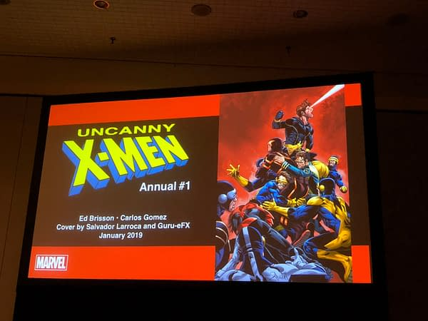 There's a Whole Lotta Cyclops on Uncanny X-Men Annual #1 Cover, Announced at NYCC