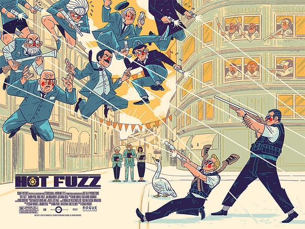 Hot Fuzz Mondo Poster