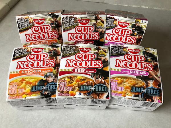Nissin Cup Noodles is Holding a Jump Force Sweepstakes on Special Boxes