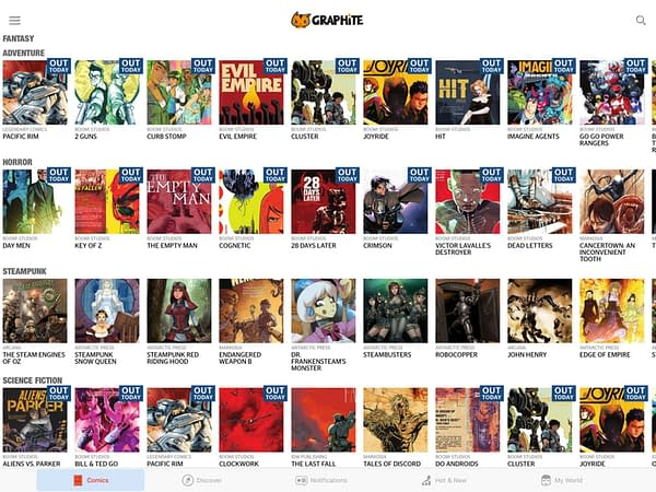 Graphite Launches as a Netflix-Meets-Spotify-Meets-YouTube for Comics For Free – or $4.99 Per Month Ad-Free