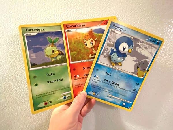 First Partner Pack: Sinnoh jumbos. Credit: Pokémon TCG