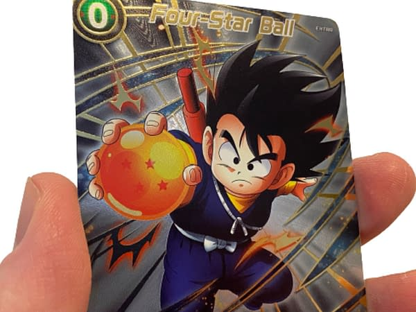 Textured cards from the Dragon Ball Super Card 2021 Anniversary Box. Credit: Bandai