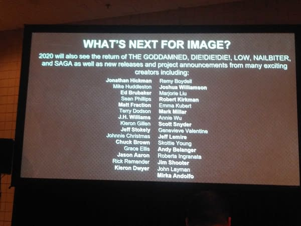 """Return of """"Sex Criminals"""", """"The Goddamned"""", """"DieDieDie"""", """"Low"""", """"Nailbiter"""" and, Yes, """"Saga"""", From Image Comics in 2020"""