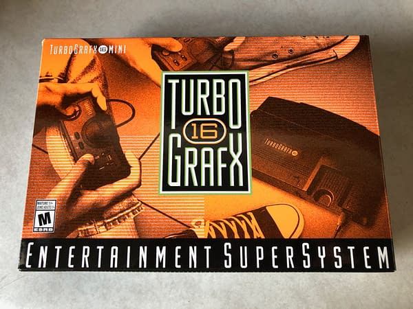 A look at the package for the TurboGrafx-16 Mini
