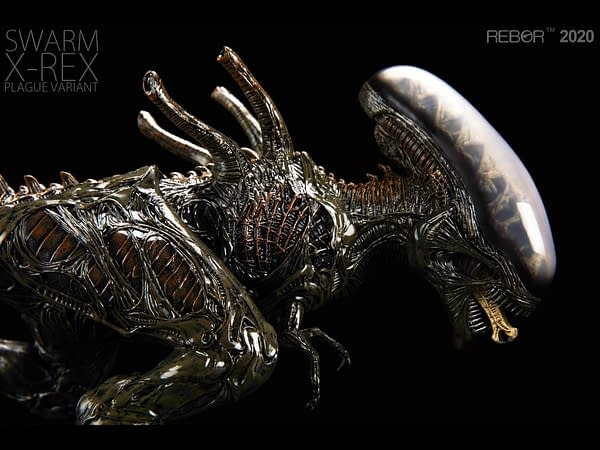 The Xenomorph T-Rex Return with Plague Variant from Rebor