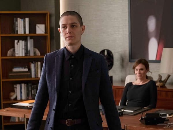 Taylor makes a move on Billions, courtesy of Showtime.