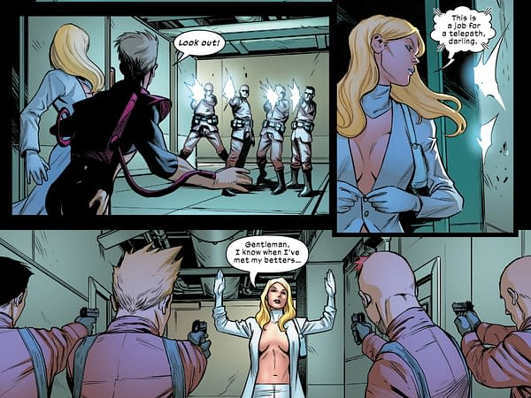 Emma Frost Has Own Weapons Of Mass Destruction in Marauders #10.