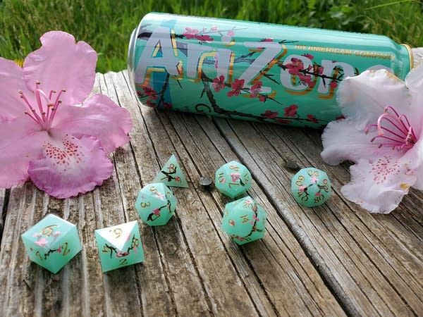 Aesthetic Dice for a Cause: Live n Let Dice's Arizona Iced Tea Dice Set