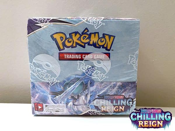 Chilling Reign Booster Box. Credit: Pokémon TCG.