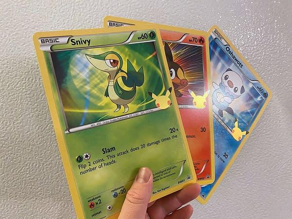 First Partner Pack: Unova oversized cards. Credit: Pokémon TCG