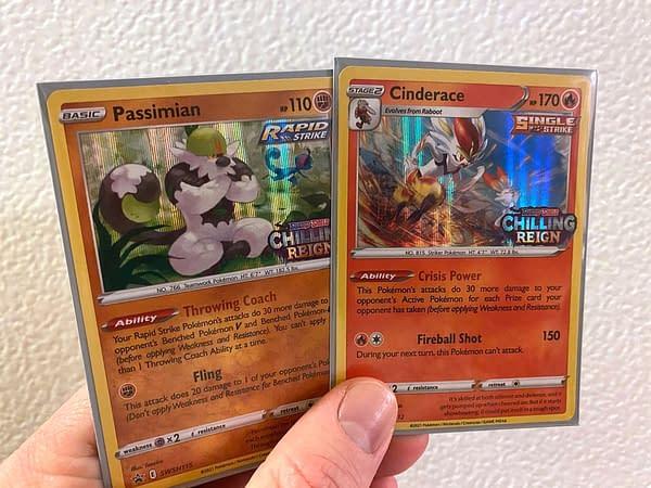 Chilling Reign Build & Battle Box promos. Credit: Pokémon TCG