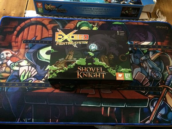 The front of the box for the Exceed Fighting System's Plague Knight boxed set by Level 99 Games.