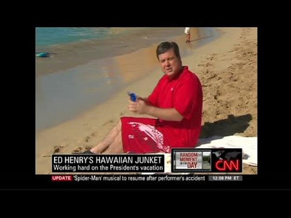Ed Henry from the CNN days (Image: CNN Screencap)