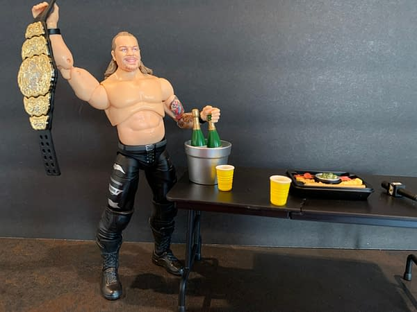 We Have A Little Bit Of The Bubbly W/ The AEW Jazzwares Jericho Figure