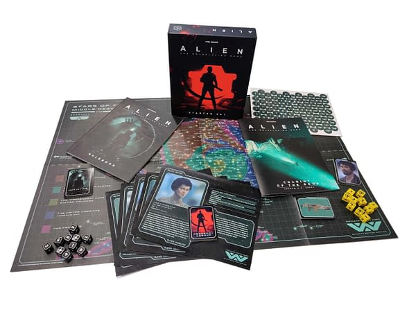 A look at the starter set for the game, courtesy of Free League Publishing.