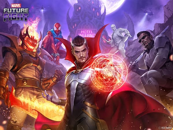 Things are about to get stranger in Marvel Future Fight, courtesy of Netmarble.