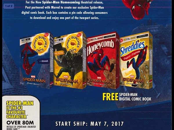 Spider-Man Homecoming Post Cereal Ad