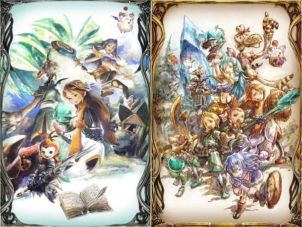 Two pieces of art from the anniversary, courtesy of Square Enix.