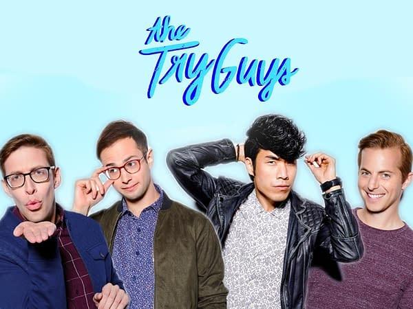 The Try Guys key art (Image: Amazon Prime)