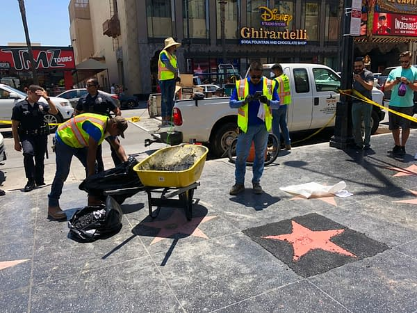 Hulk Smash Orange Man's Hollywood Walk Of Fame Star
