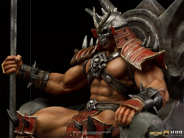 Mortal Kombat Shao Khan Reigns Supreme with Iron Studios