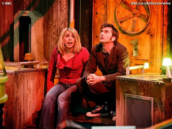 """David Tennant and Billie Piper in """"Doctor Who"""", BBC Studios"""