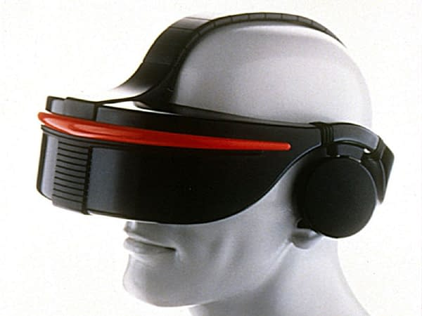 This is heavy, Doc. No, really, this headset is heavy! Courtesy of SEGA.
