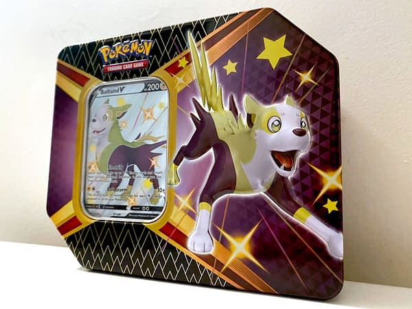 Pokémon TCG Shining Fates Bolton tin. Credit: TPCI