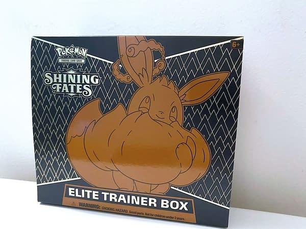 Pokémon TCG: Shining Fates Elite Trainer box. Credit: TPCI