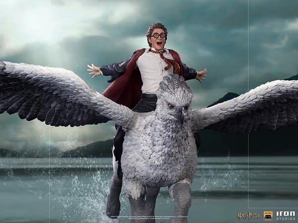 Harry Potter Rides Buckbeak With New Iron Studios Statue
