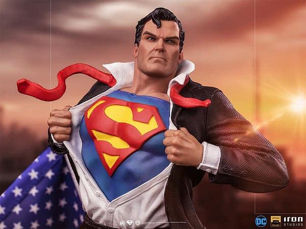 Clark Kent Becomes Superman In New DC Comics Iron Studios Statue