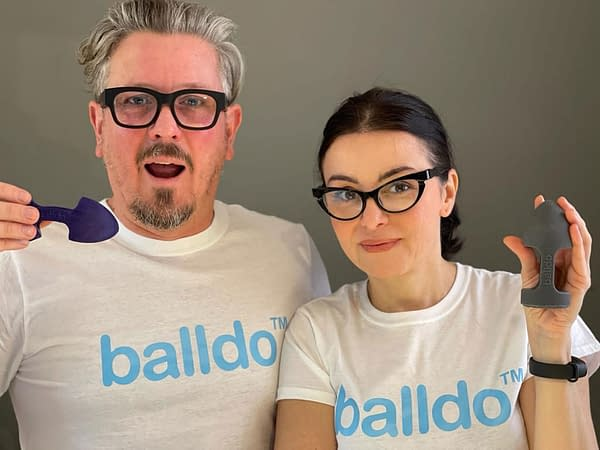 The founders of Balldo, a Wolverine cosplay device that allows the wearer to simulate the experience of having two dicks: one for f**king, and one for making love.