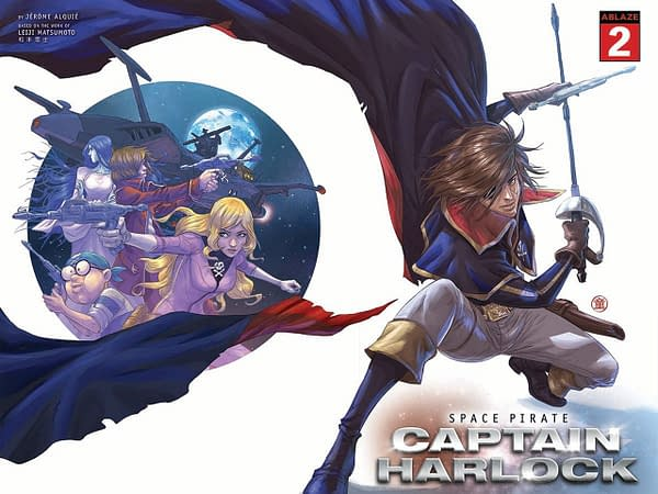 Space Pirate Captain Harlock: Ablaze Reveals Variant Covers for Comic